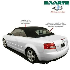 Audi A4 s4 Convertible Soft Top With Heated Glass Window In Black Stayfast Cloth