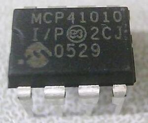 50 Pcs Mcp41010 i p Dip 8 Mcp41010 New Digital Potentiometer