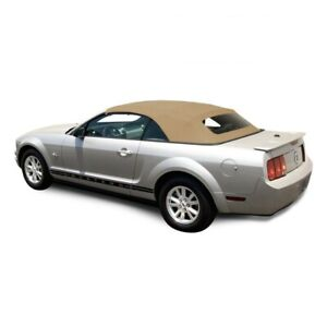 Ford Mustang 05 14 Convertible Soft Top Glass Window Camel Tan Sailcloth