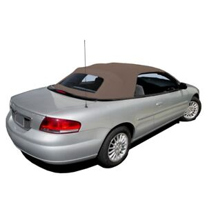 New Chrysler Sebring Convertible Soft Top Plastic Window Sandalwood Sailcloth