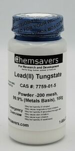 Lead ii Tungstate Powder 200 Mesh 99 9 metals Basis 100g
