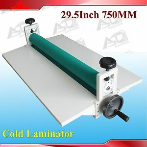 All Metal Frame 29 5 Manual Cold Roll Laminator Mount Laminating Machine 750mm