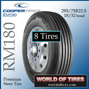 8 Tires Roadmaster Rm180 22 5lp Semi Truck Tire 295 75r22 5 Truck Tires