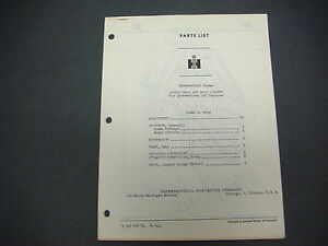 Wagner Iron Works tractor Equipment supplement No 6 iwe 1 Parts Catalog