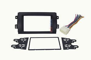 Radio Replacement Dash Mounting Install Kit Double Din W Harness For Suzuki