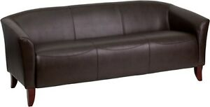 Imperial Series Brown Leathersoft Sofa Reception Guest Lounge Furniture