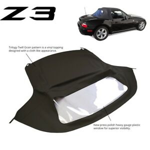 Bmw Z3 1996 2002 Convertible Soft Top Replacement Plastic Window Black Twill