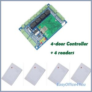 High Performance 4 Door Wiegand Access Control For Home Office Factory Security