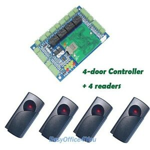 Best Quality Intelligent Access Control Panel 4door free Software 4 Rfid Readers