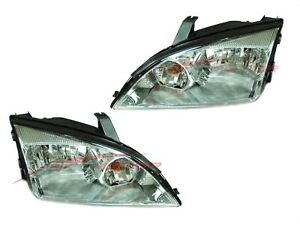 For 2005 2007 Ford Focus Head Lights Lamps Driver Passenger Side Lh rh