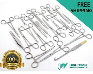 126 Pcs Canine feline Spay Pack Veterinary Surgical Instruments