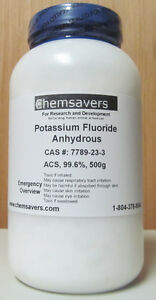 Potassium Fluoride Anhydrous Acs 99 6 Certified 500g