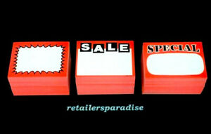 Theyre Back 150 assorted Sale Special Signs Retail Store Price Point Tags