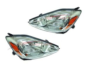For 2004 2005 Toyota Sienna Head Lights Lamps Driver Passenger Side Lh Rh