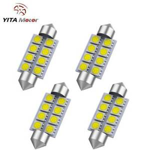 4x 6000k White 42mm 5050 8smd Festoon Dome Map Interior Led Light Bulb 212 2 569