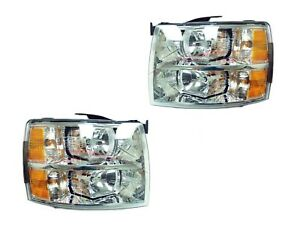 For 2008 2010 Chevrolet Silverado 1500 Head Lights Driver Passenger Side Lh Rh