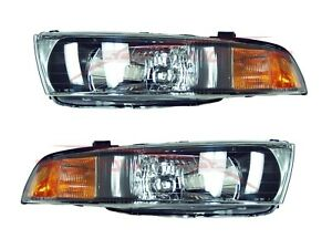 For 2002 2003 Mitsubishi Galant Head Lights Lamps Driver Passenger Side Lh rh