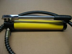 Hydraulic Hand Pump 10 Ton Knockout Punch Porta Power Engine Lift Auto Body