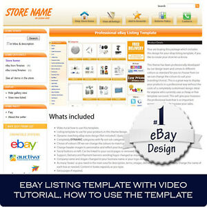 Ebay Store And Listing Template Design Auctiva Inkfrog Video Tutorial
