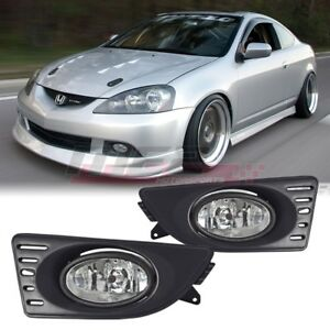 05 07 For Acura Rsx Clear Lens Pair Bumper Fog Light Lamp Wiring Switch Kit Dot