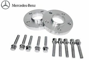 2 Pc Mercedes Benz 15 Mm Thick Hub Centric Wheel Spacers 66 56 W 10 Lug Bolts