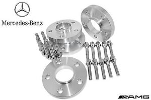 4 Pc Set Of Mercedes Benz 20 Mm Thick Hub centric Wheel Spacers W Lug Bolts