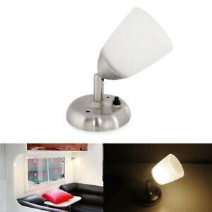 Rv Led Bedside Reading Lights With Glass Shade Trailer Boat Interior 12v Warm W