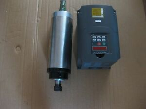 A Water cooled Spindle Motor 4 Kw With A Vfd As A Set