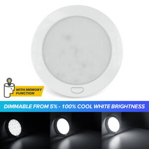 Dimmable Cool W 5 Led Ceiling Light Rv Caravan Boat Interior Light Switched 12v