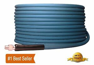 100 Ft 3 8 Blue Non marking 4000psi Pressure Washer Hose 100 Free Shipping