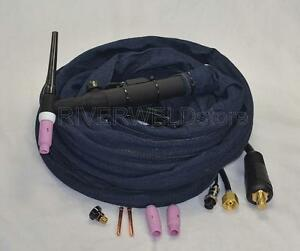 Wp 26v 25r 200amp Air cooled Tig Welding Torch Gas valve Control Head Body