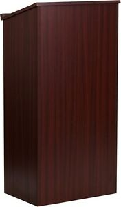 Mahogany Stand Up Lectern Podium With Shelf Church Podium School Lectern