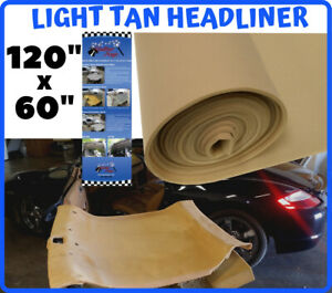 Lt Tan Auto Headliner Upholstery Fabric 120 X 60 Material 3 16 Foam Backing