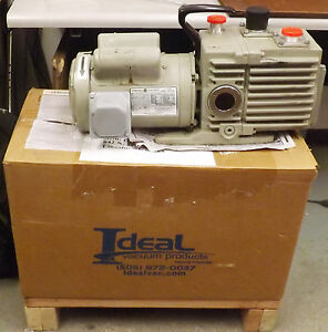 1 Used Leybold heratrivac D8a 898020 Rotary Vane Vacuum Pump make Offer