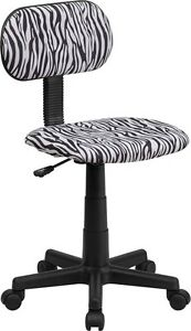 Black And White Zebra Printed Computer Office Desk Chair