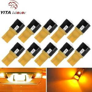 Yitamotor 10pcs T10 Wedge W5w Led Car Amber Interior Map Dome Trunk Light Bulbs