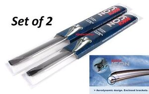 Bosch Icon Beam Oe fitment Wiper Blade Set Of 2 Front Left right 26