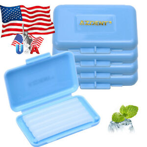 Us 500 Box Orthodontics Wax Blue mint Scent For Braces Gum Irritation Azdent