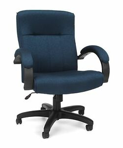 Stature Series Executive Mid back Conference Office Chair With Navy Fabric