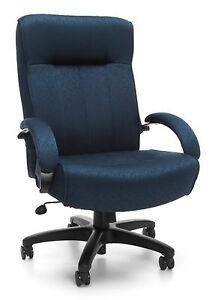 400 Lb Capacity Big Tall Executive High Back Office Chair With Navy Fabric