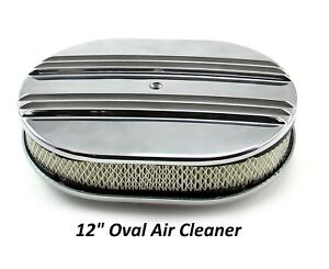 Aluminum Air Cleaner 12 Oval Quadrajet Holley Edelbrock Carburetor Calcustom