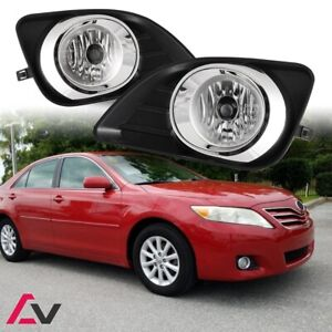 2010 2011 Toyota Camry Fog Lights Clear Lens Front Driving Lamps Complete Kit