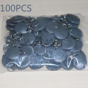 100pcs Em4100 Tk4100 125khz Rfid Id Induction Proximity Gray Tag Token Keyfob