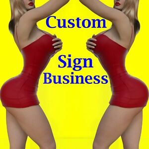 Sign Business Manufacture Business 5 Designs All Included