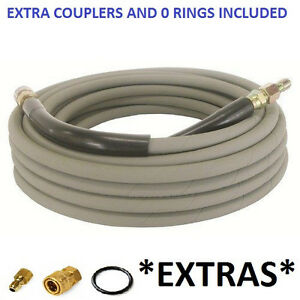 Non marking Pressure Washer Hose 4000 Psi 50ft Length W Ends 50 Gray