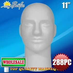 288pc Wholesale 11 Male Styrofoam Foam Mannequin Head Wig Display Hat Glasses