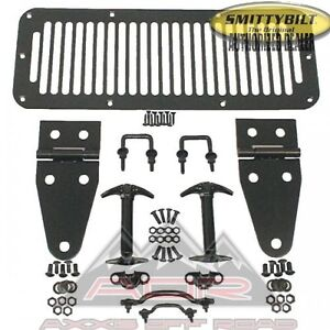 New Hood Hinge Set Kit 7699 Fits 78 95 Jeep Wrangler Cj5 Yj Cj7 Scrambler Black