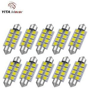 10x Super White 42mm 5050 Festoon Dome Map Interior Led Light Bulb 211 2 578 569