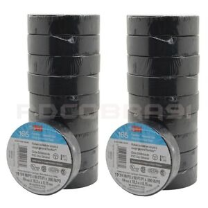 3m Temflex Black Electrical Tape 1700 40 Rolls 3 4 X 60 Ft Long Free Shipping