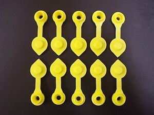 10 Yellow Fuel Gas Can Jug Vent Cap Blitz Wedco Scepter Essence Midwest Eagle